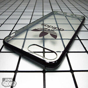 Black Genuine Original ADIDAS Clear Back Cover Case for Apple iPhone 7 iPhone7