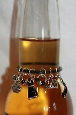 Breakfast at Tiffany's Themed Bottle Marker Shoe Charms Little Black Dress Charm