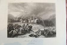 21d1-9 Gravure 19éme Bataille d'Ocana 18 novembre 1809