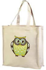 Owl Cotton Shopping Bag, Dad Owl, Choice of Colours