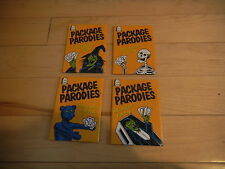 (4) 2009 Rare Wacky Package Parodies Sealed Unopened Halloween Fun Packs