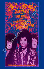 Jimi Hendrix 1968 Cleveland Concert Poster