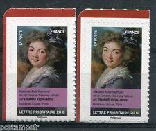 FRANCE 2012, VARIETE de COULEUR, timbre AUTOCOLLANT FEMME VIGEE-LEBRUN, neufs**