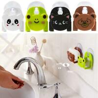 Cartoon Dishcloth Sponge Holder With Suction Cup Decor Dining Kitchen Organizer