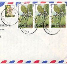 CF232 1980s Kenya *KAKAMEGA* Skeleton BISHOP'S HOUSE Cover MIVA Austria FLOWERS