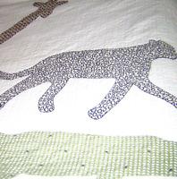 Pottery Barn Kids Quilt Blanket Giraffe Cheetah Alligator Safari Animals Twin