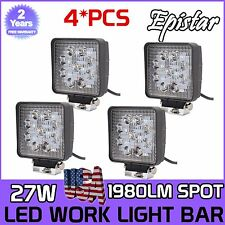 4X27W 12V 24V 9LED Square Work SpotLight Lamp Tractor Truck SUV UTV ATV Off-road