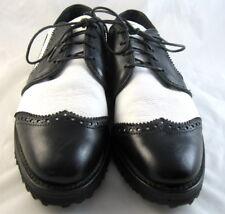 New Allen Edmonds Golf Shoes 5 D Black/White (870)
