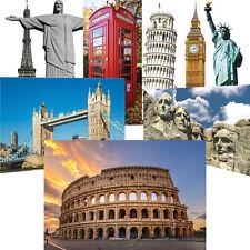 Famous Wonders of the World Landmark Cardboard Cutout Decoration Backdrop Prop