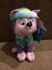 Nickelodeon - Paw Patrol Plush - Everest Plush - Sitting - 18cm Genuine - BNWT