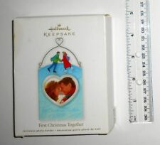 HALLMARK KEEPSAKE 1ST CHRISTMAS TOGETHER ORNAMENT PICTURE FRAME - NEW IN BOX