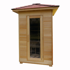 2 (TWO) PERSON OUTDOOR INFRARED SAUNA WITH CARBON HEATERS AND FREE DELIVERY
