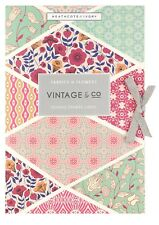 Vintage & Co Fabrics & Flowers Set of 6 Scented Drawer Liners
