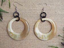 Buffalo Horn Material Earrings Circle Jewelry