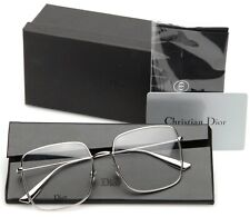 NEW Christian Dior Stellaire 01 010 PLATINUM SILVER EYEGLASSES 56-17-145mm Italy