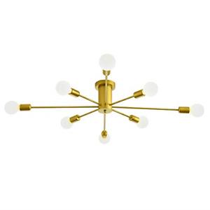 Modern Sputnik Chandelier 8-Light Ceiling Light,White Gold