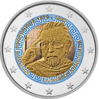 2 Euro Gedenkmünze Griechenland 2019 Andronikos coloriert m. Farbe / Farbmünze 2