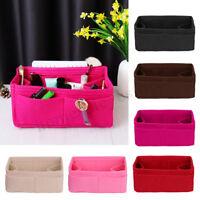 Felt Insert Purse Handbag Organizer Multi pocket Storage Tote Liner Cosmetic Bag