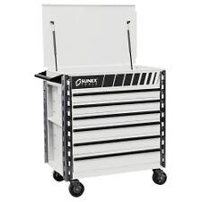 Sunex Tools 8057XTWH Premium Full 6 Drawer Service Cart - White