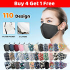 Washable Reusable Anti Pollution Mask Face Mouth Cover Respirator + Filters