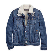Harley-DavidsonSherpa Fleece Denim Slim Fit Jeans Jacke Gr. S - Herren, Blau