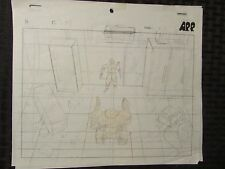 Unknown Animation Production Art Lot of 2 Robot A.P.P 10.5x9 Pencil