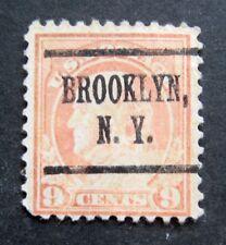 Sc # 509 ~ 9 cent Franklin Issue, Precancel, BROOKLYN N.Y.