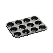 HIGH QUALITY NON STICK 12 DEEP CUP MUFFIN FAIRY CAKE BUN MAKING TIN TRAY PAN