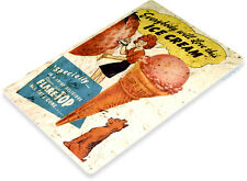 Tin Sign B609 Flare Top Ice Cream Vintage Ice Cream Metal Decor
