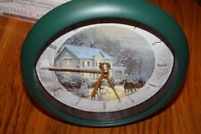 "Thomas Kinkade Painter of Light Christmas Carol Clock 8"" Home For The Holidays"