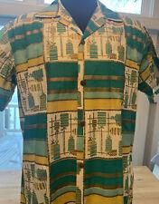Vintage 1950s Stan Hicks Hawaiian Casuals Aloha Button Down Hawaiian shirt Rare!