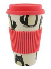 Travel Mug Feline Fine Cat Eco-Friendly Biodegradable Bamboo Travel Cup
