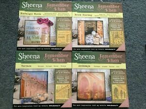 CLEARANCE CRAFTERS COMPANION SHEENA STENCIL TERRACE ARCHWAYS NOSTALGIC WORDS