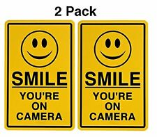 Smile You're On Camera Surveillance Video Taping Decals Sticker 2 Pack by Atomic