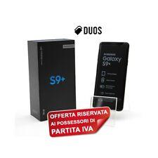 "SAMSUNG GALAXY S9 PLUS DUOS 256GB BLACK 6,2"" DUALSIM G965FD G965F PER P.IVA-"