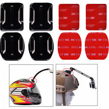 4x Flat & Curved Helmet Mounts 3M Adhesive Pads for GoPro Hero 1/2/3/3+/4 Camera
