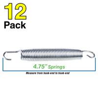 "4.75"" Trampoline Spring 12.06 cm - Silver (12-pack)"