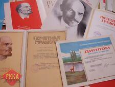 10 Urkunden Konvolut LENIN Ehrenurkunde Kommunist Partei UdSSR Sowjetunion СССР