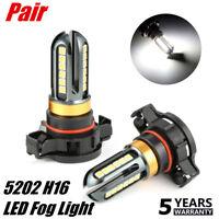 2X HIGH POWER H16 5202 LED Fog Light Bulb Car HID White 6000K Driving Lamp DRL