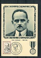 Maximumkarte Frankreich Paul Gateaud Widerstandskämpfer - b2260