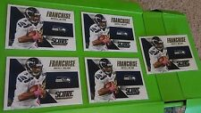 Lot of 5  Russell Wilson 2015 Score Football Franchise Inserts #12.  Seahawks.