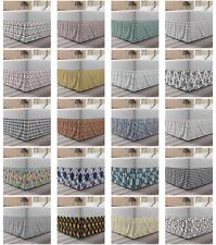 Ambesonne Vintage Details Bedskirt Elastic Wrap Around Skirt Gathered Design