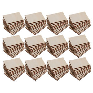 120Pack Shabby Chic Poplar Wood Rectangle Plaque Extra Large for Woodburning