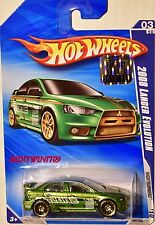 HOT WHEELS 2010 NIGHTBURNERZ 2008 LANCER EVOLUTION GREEN FACTORY SEALED W+
