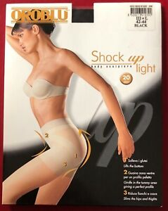 Oroblu Shock Up Light Black Tights pantyhose Large