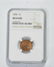 MS64 RB 1898 Indian Head Cent - Graded NGC *959