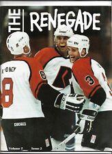 1991 - 1992 Richmond Renegades vs Knoxville Cherokees hockey program MW