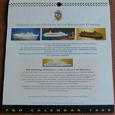 P&O CRUISES CALENDAR 1999 - ORIANA, ARCADIA & VICTORIA - AURORA