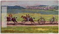 England Trotting Team Horse Racing 1930s Trade Ad  Card