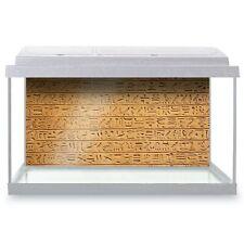 Fish Tank Background 90x45cm - Egyptian Hieroglyphics Stone Wall  #16104